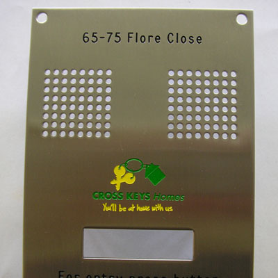 Door Entry Panels Signage Engraving