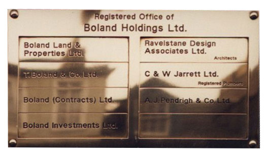 Directory Registered Office Plaques Signage Engraving